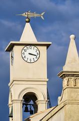 Italy, Sicily, Portopalo di Capopassero, the church's bell tower