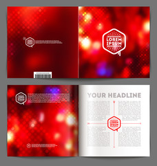 Vector abstract template booklet design