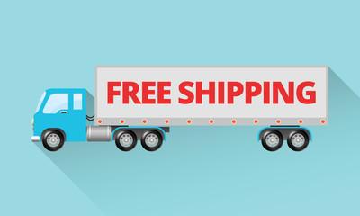 Large Semi Truck - Free Shipping Design