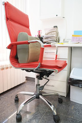 Office red chair