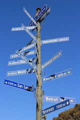 City distances - sign in Los Angeles
