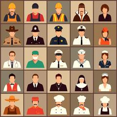 vector icon workers, profession people, cartoon vector