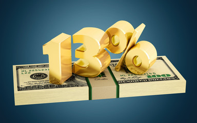 13% - savings - discount - interest rate