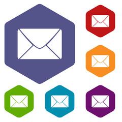 Mail rhombus icons
