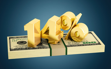 14% - savings - discount - interest rate