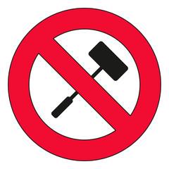 Selfie Stick verboten - Nicht erlaubt