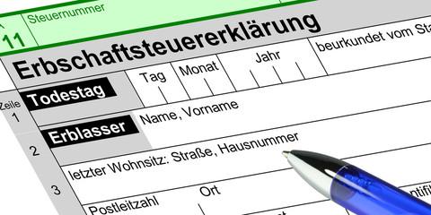 sf1 Steuer-Formular - Erbschaftssteuer - 2zu1 g3376