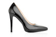 Black elegant shoe for woman on white, clipping path - 79704071