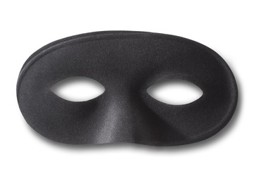 Black mask with soft shadow on white, clipping path