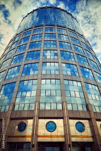 Business center Moscow-City. Tower 2000. Moscow, Russia - 79704088
