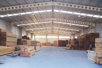 carpenter billet wood production hall