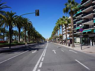 Promenade along the beach in Salou