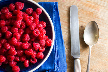 Fruits of the forest: raspberries