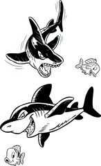 sharks and fish