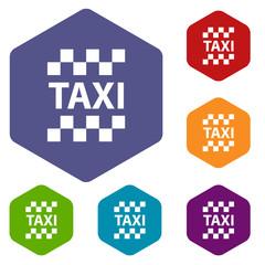 Taxi rhombus icons