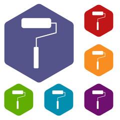 Roller rhombus icons