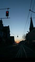 Sonnenuntergang an der Ampel
