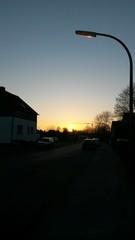 Sonnenuntergang Laterne
