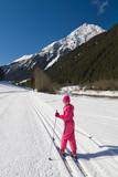 Cross-country skiing girl