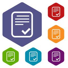 Document rhombus icons