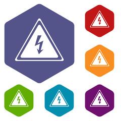Voltage rhombus icons