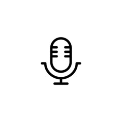 Microphone Trendy Thin Line Icon