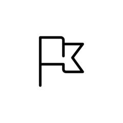 Flag Trendy Thin Line Icon