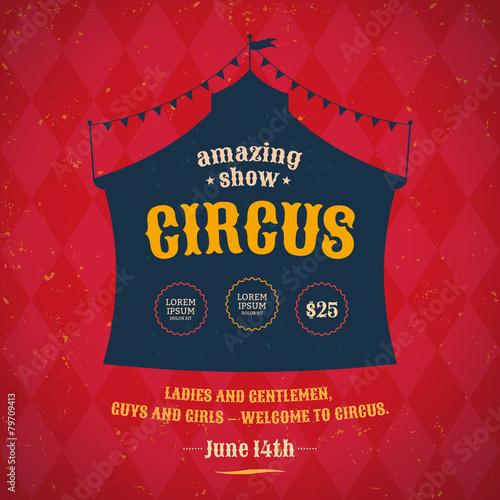 Fotobehang Vintage Poster Circus poster
