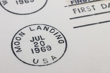 Ersttagsbrief zur ersten Mondlandung 1969