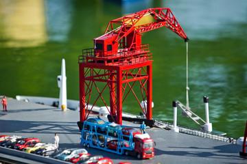 Sea port in miniature