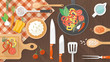 Food and cooking banner - 79711421