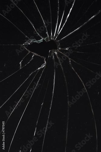 Leinwandbild Motiv broken glass