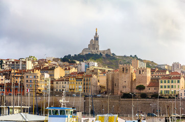 Notre-Dame de la Garde and Abbey of Saint Victor in Marseille -