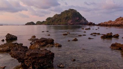Beach and Island on twilight time in Thailand
