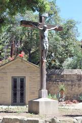 The backyard of Old Misssion, Santa Barbara, California