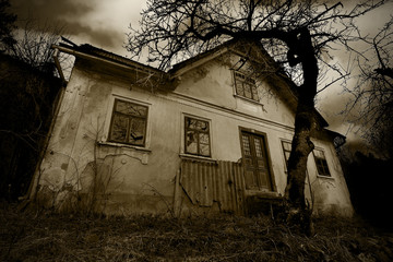 Horror Scene of a Old Creepy House