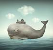 Fantasy Whale - 79713269