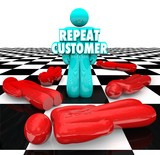 Repeat Customer Loyal Satisfied Faithful Client Return Business poster