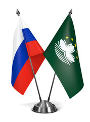Russia and Macau - Miniature Flags.