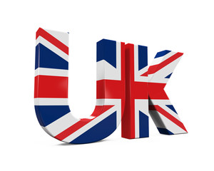 UK Text with Flag