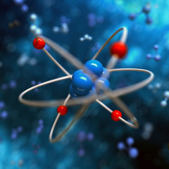 Atom abstract background