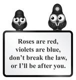 Monochrome comical do not break the law poem