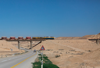 train in the Negev desert