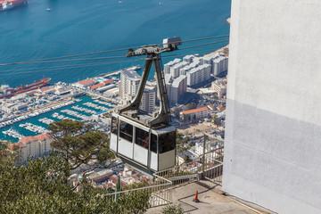 Cable car. Rock of Gibraltar