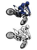 Fototapety Coloring book moto cross cartoon character
