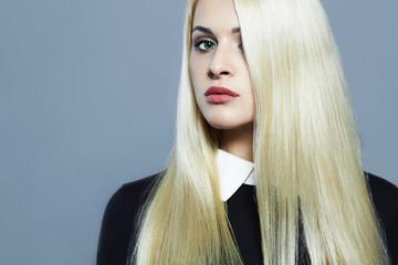 Young blond woman.Beautiful Girl.schoolgirl uniform