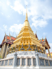 Pagoda for Temple of the Emerald Buddha in Thailand