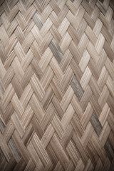 Texture of the Bamboo wicker wall background