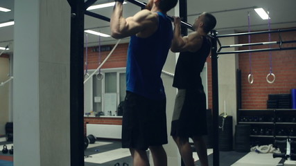 Pull-Ups in a Gym