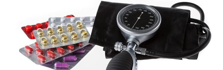 Medicament and pressure gauge